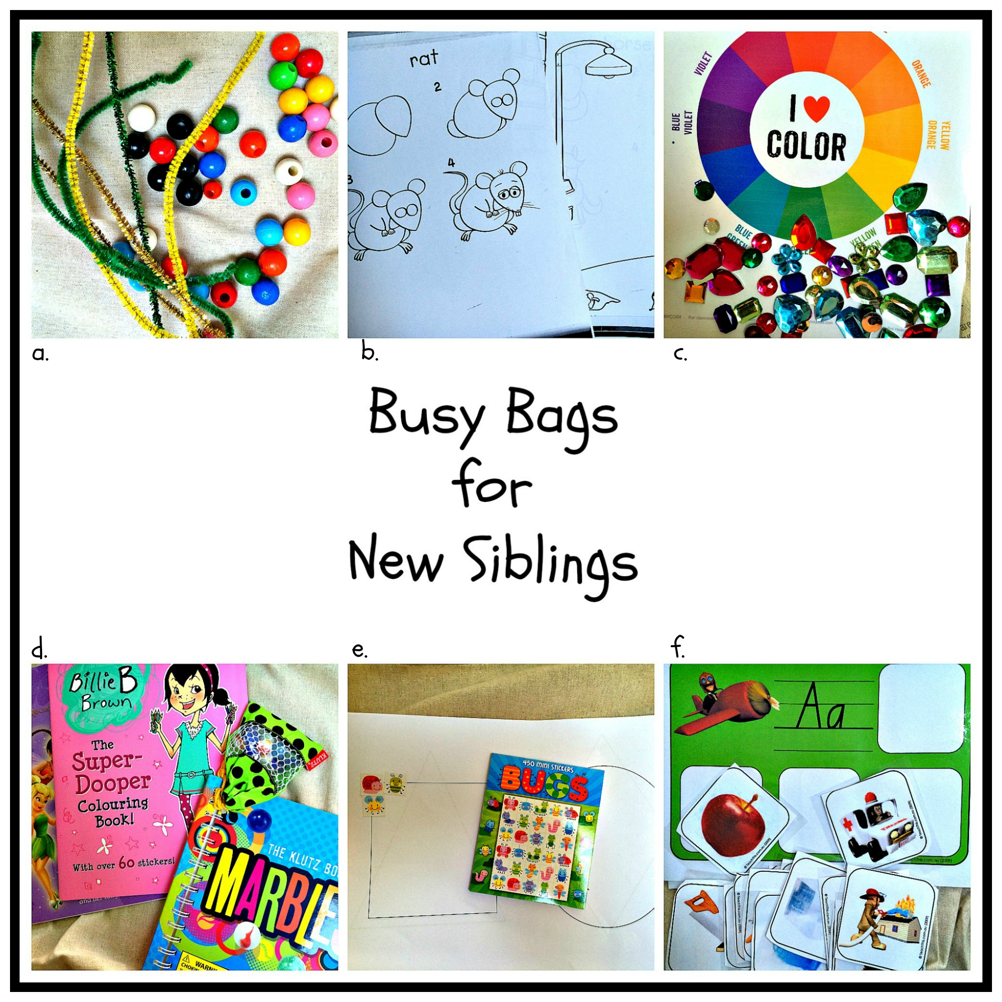 busy bags for new siblings oh creative day