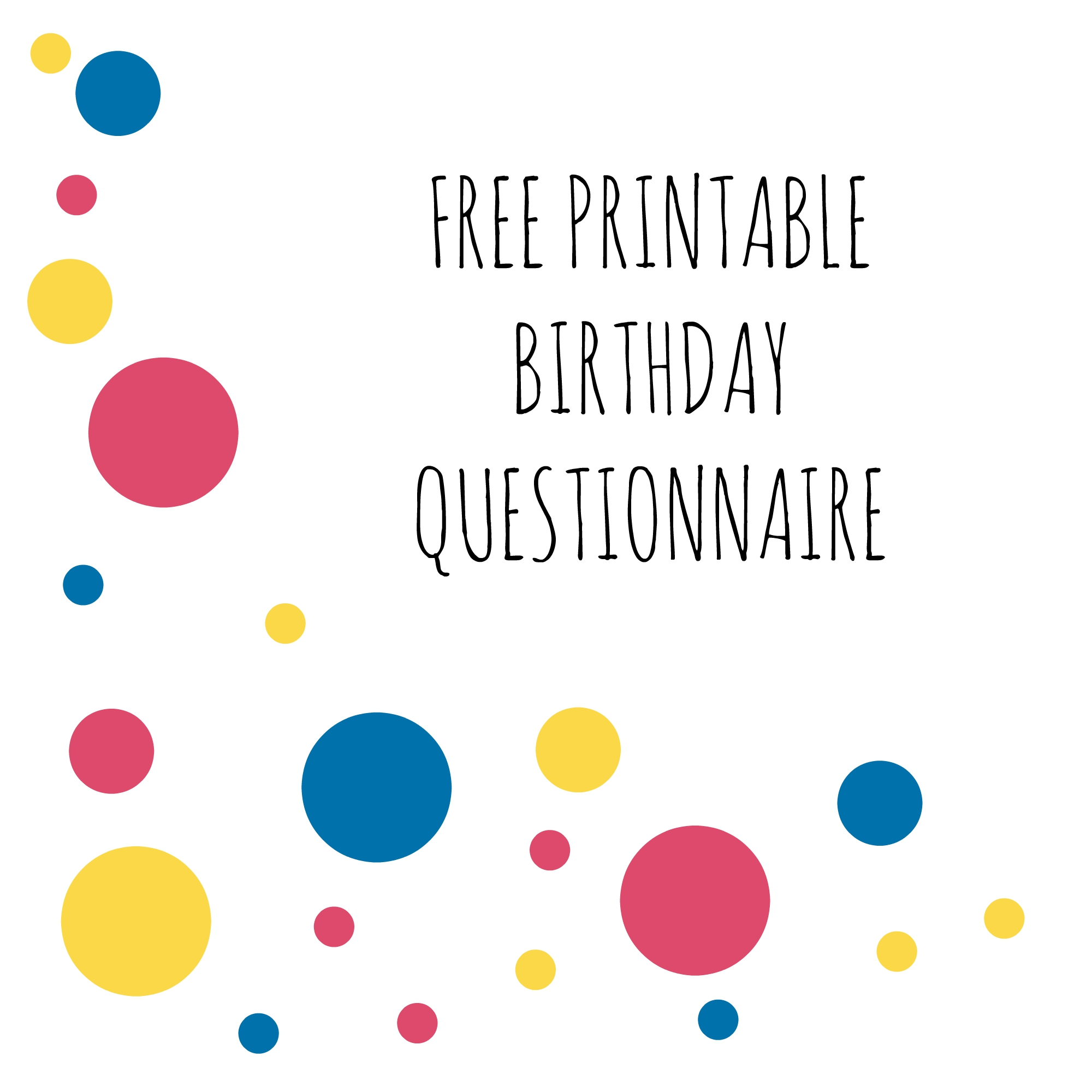 Birthday Questionnaire