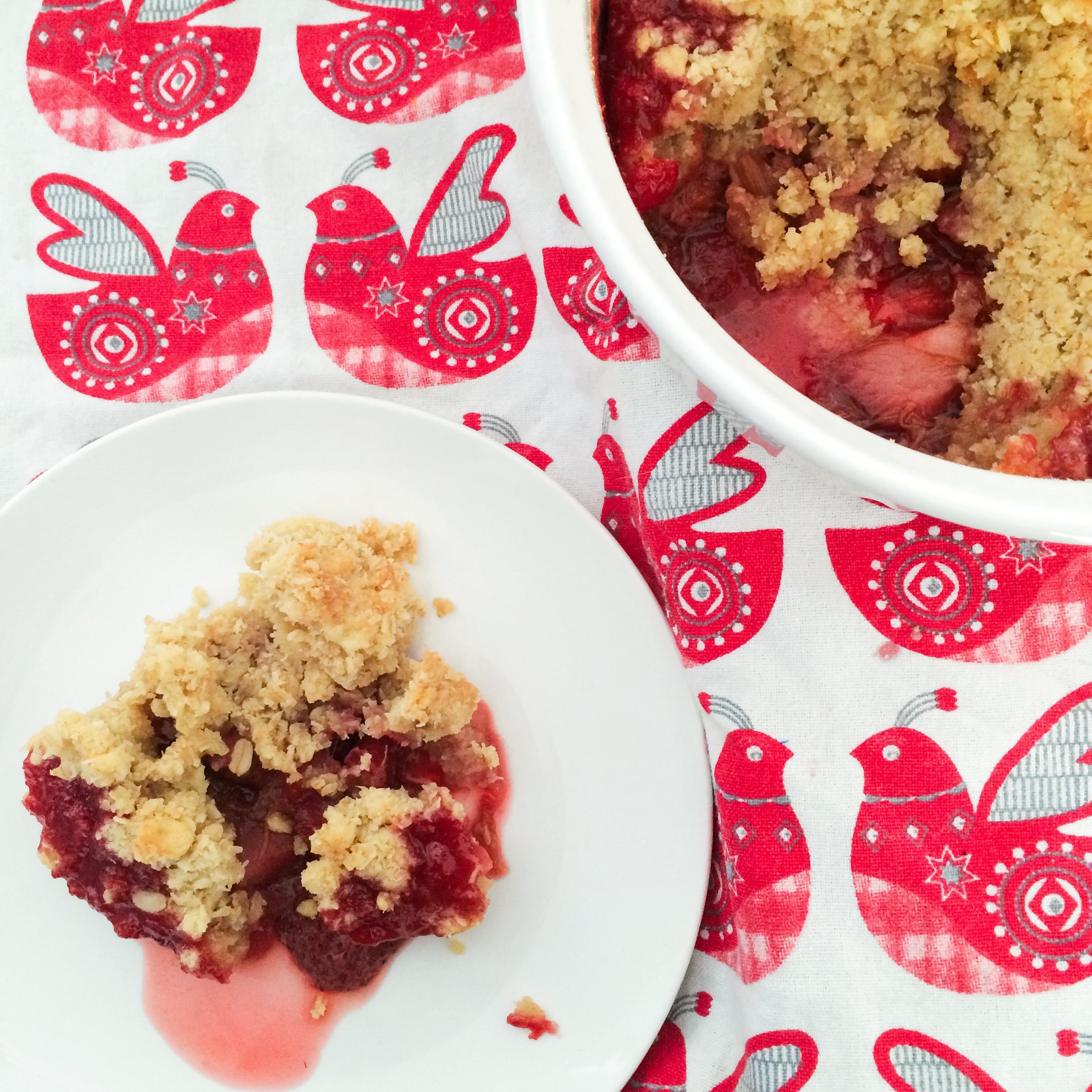 Strawberry RhubApple Crumble