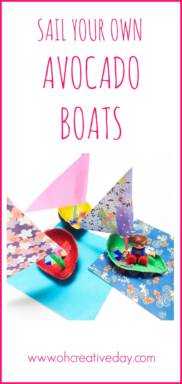 A fun (and nutritious) boat craft for kids to make, using avocados, to explore the concepts of floating and sinking