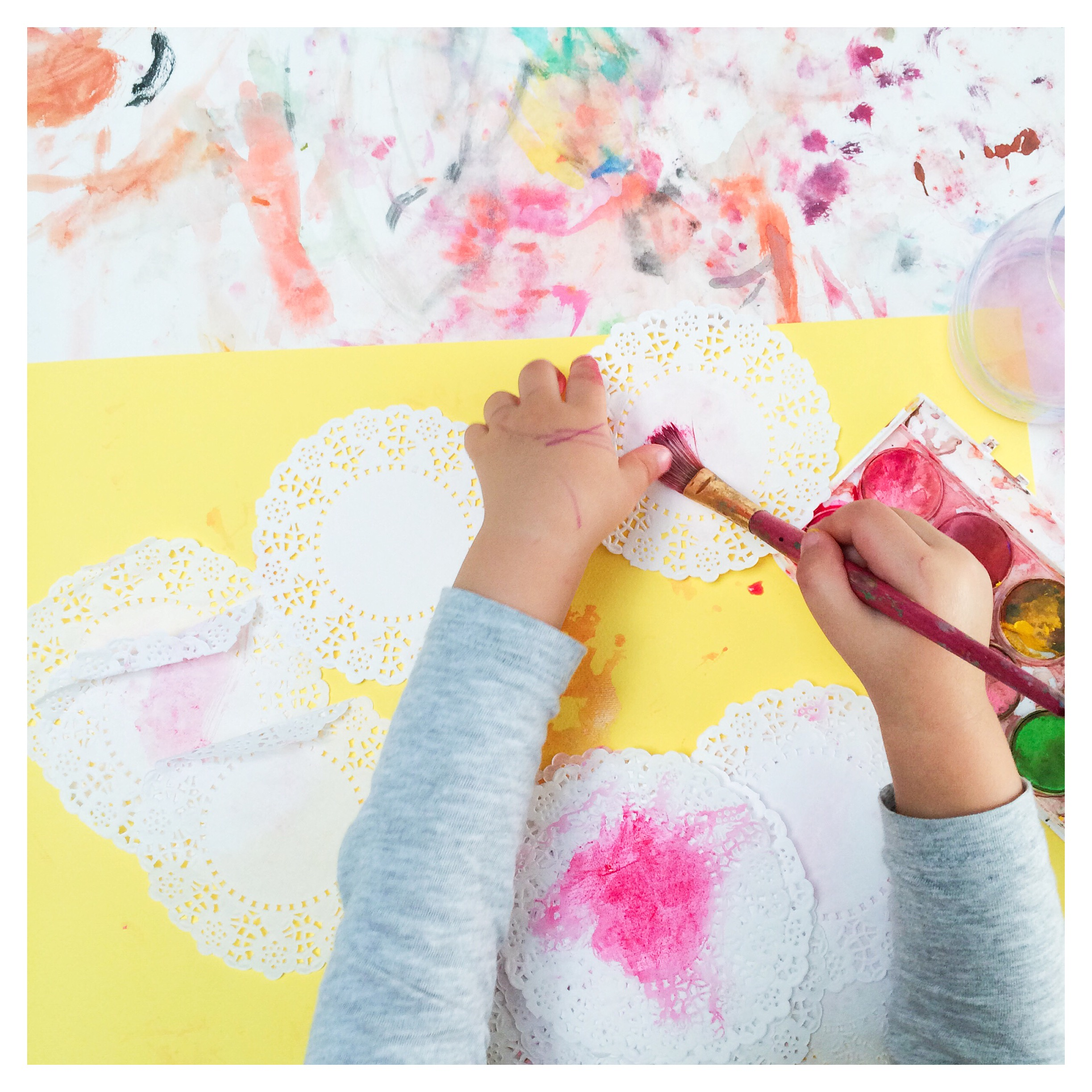 Painting Doilies
