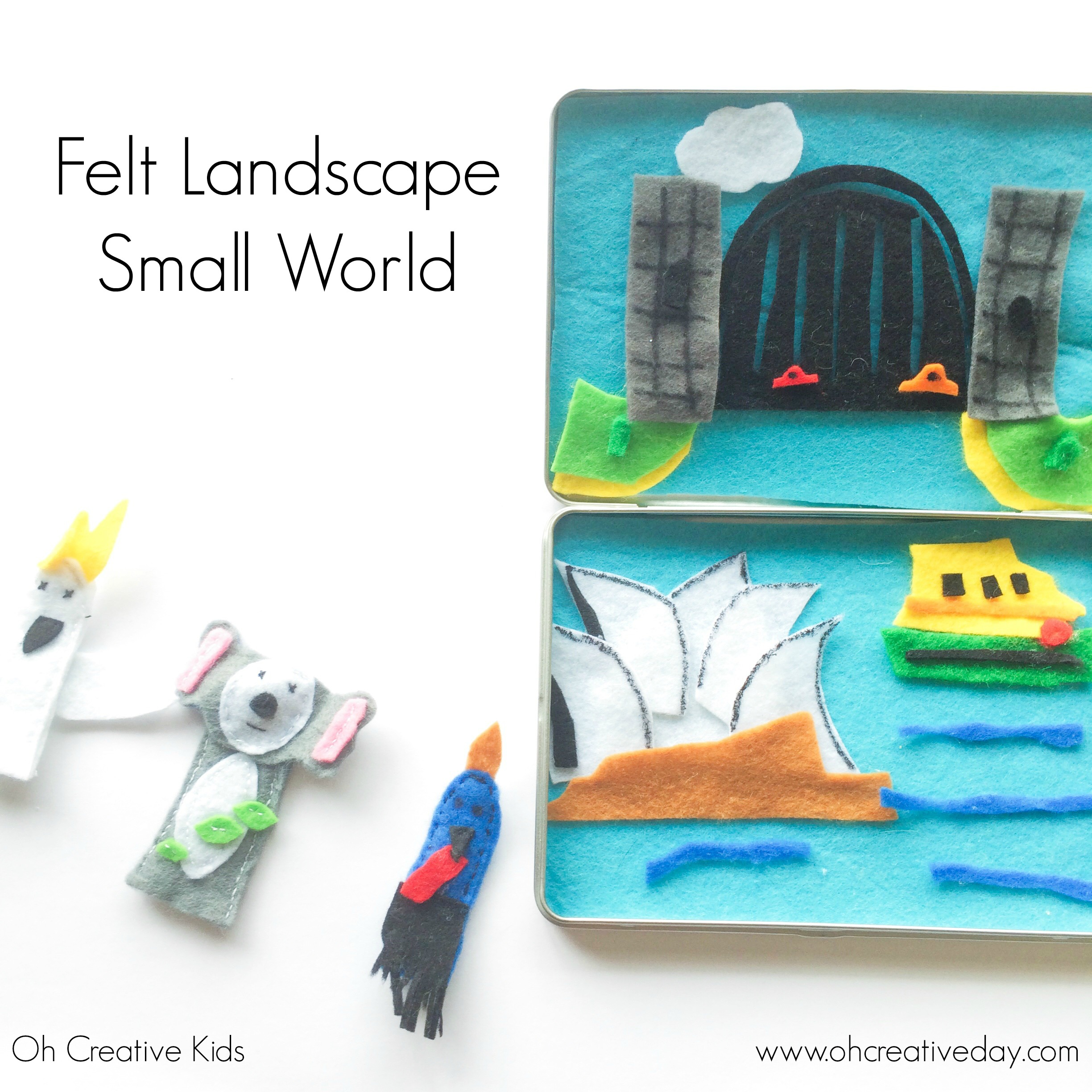 Felt Landscape Small World Play