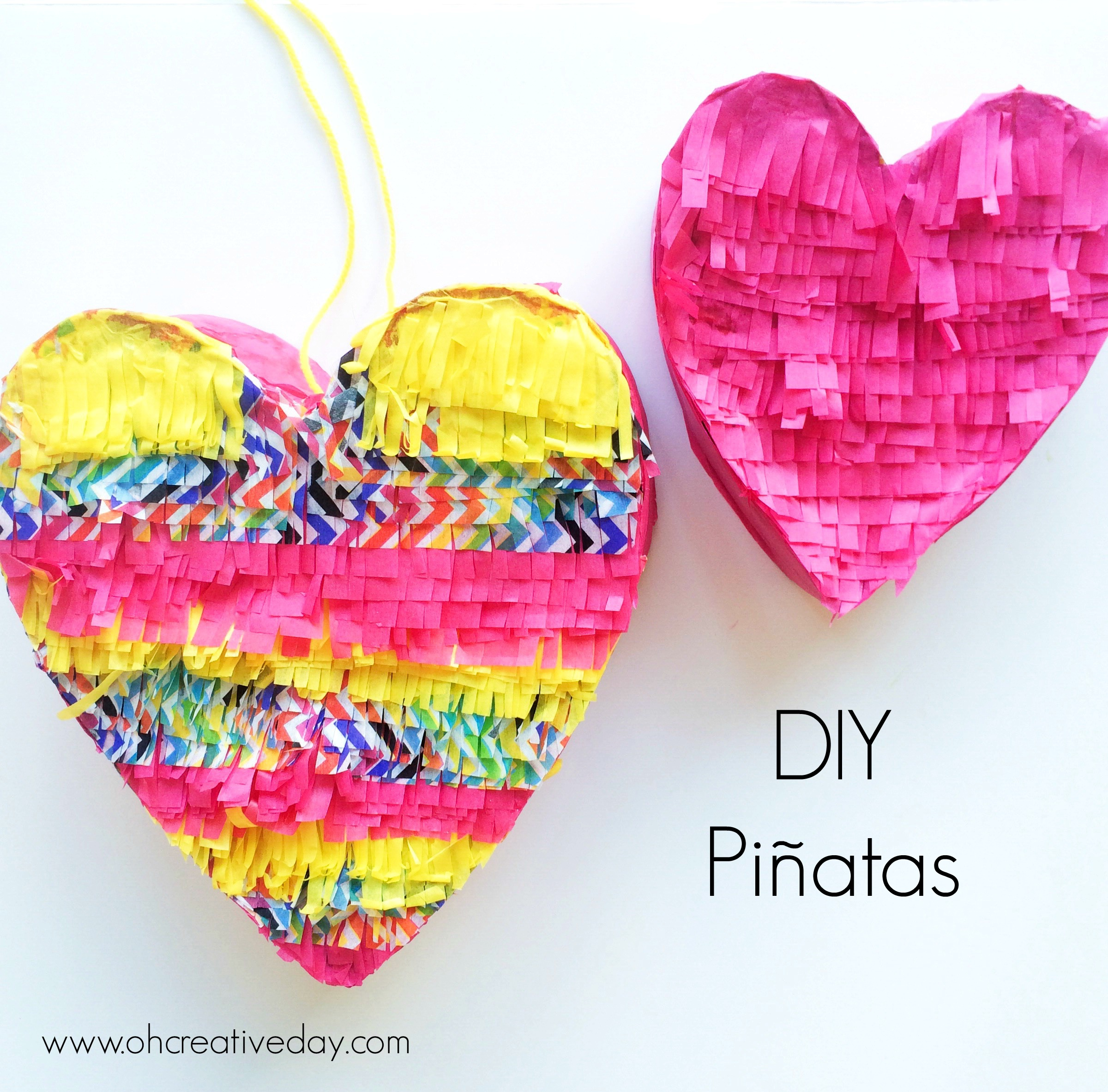 DIY Pinatas www.ohcreativeday.com