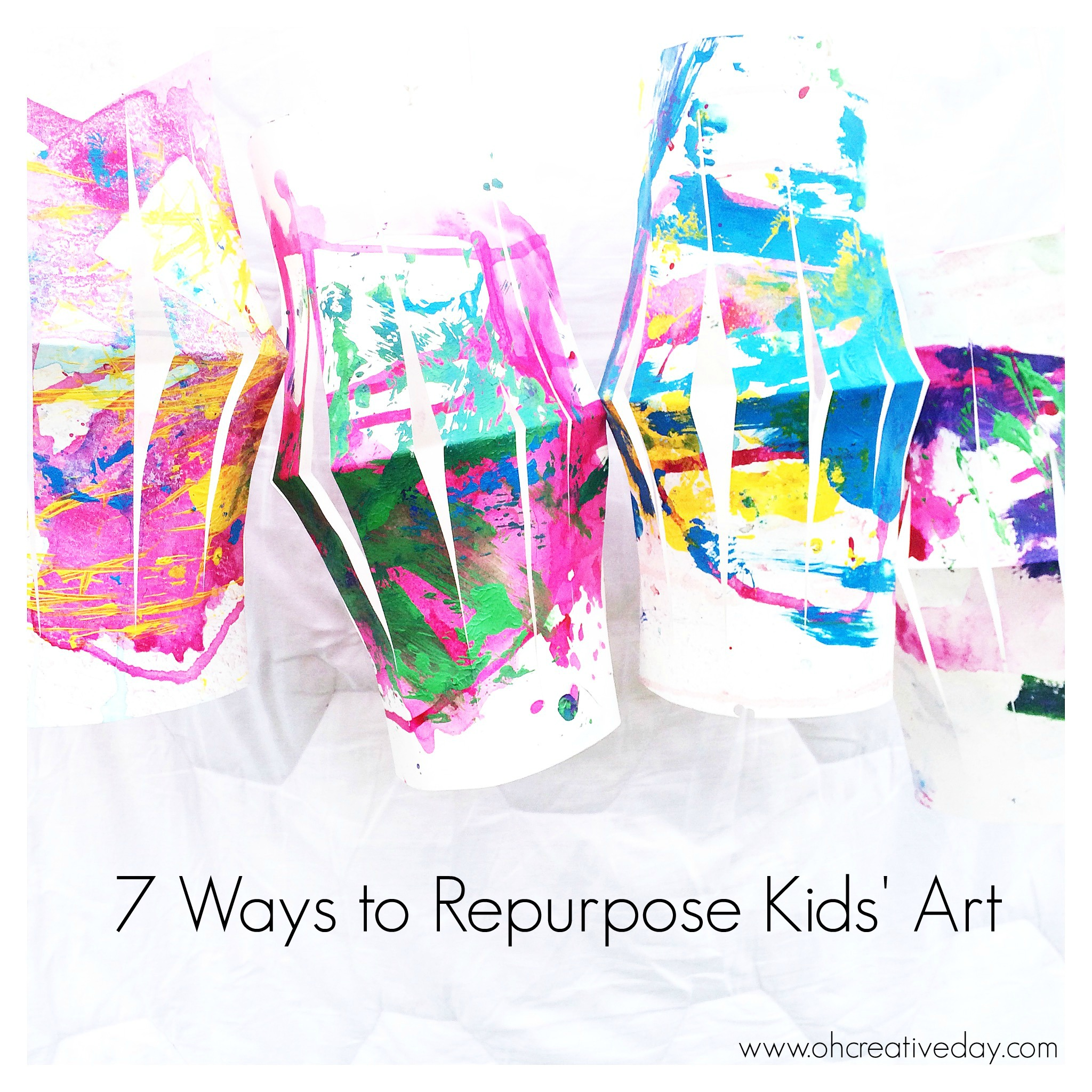 7 Ways to Repurpose Kids Art - Oh Creative Day
