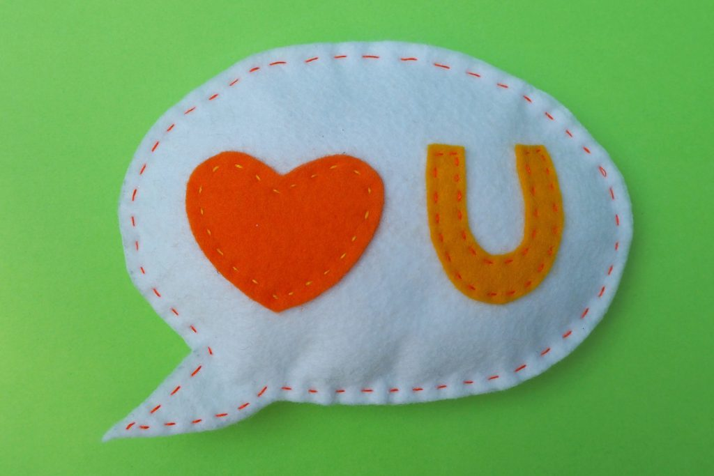 LOVE U Fridge Magnet by Coloured Buttons