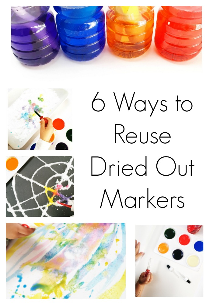6 Ways to reuse Dried Out markers