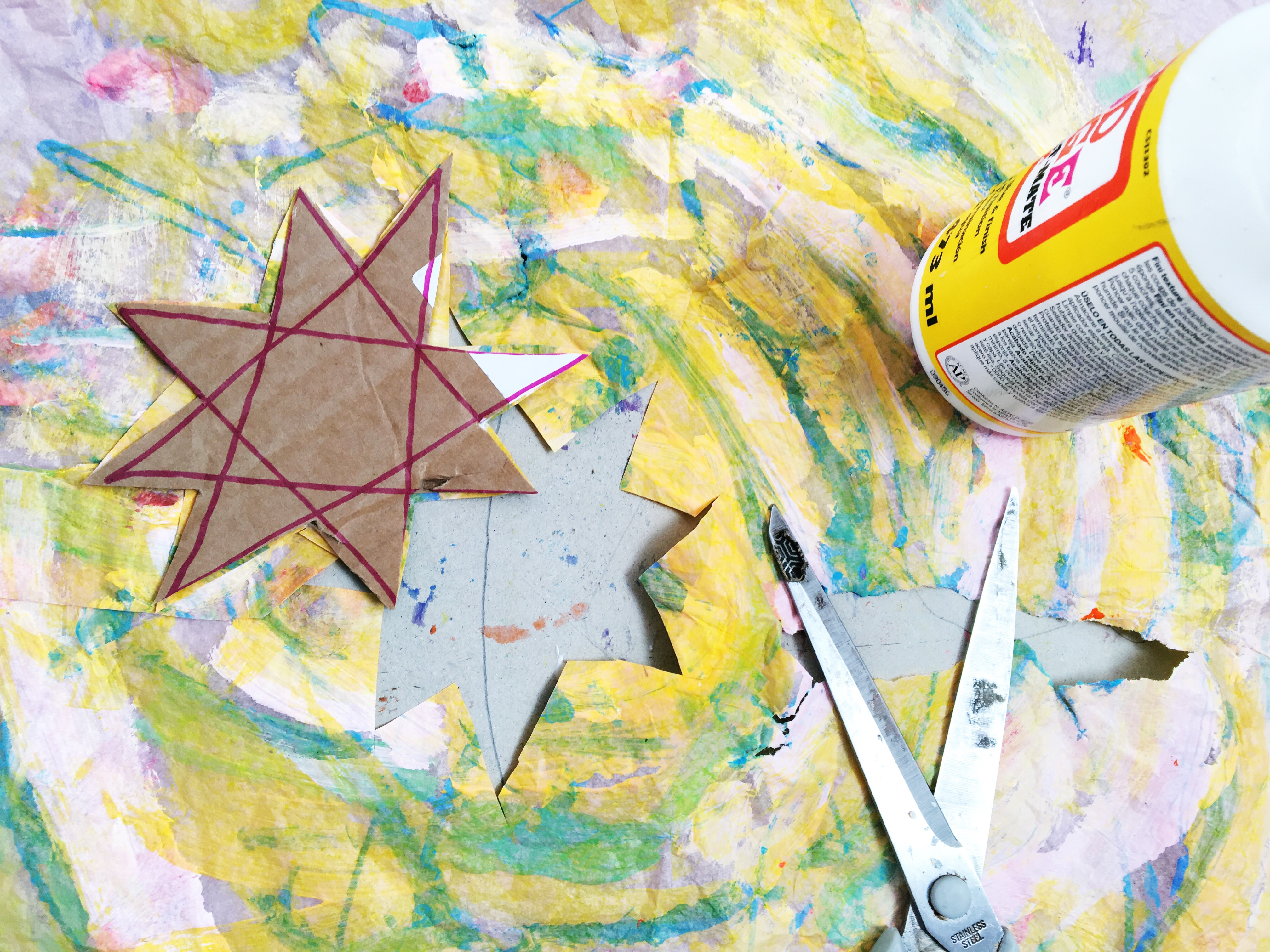 Eric Carle Tissue Paper Stars - Oh Creative Day