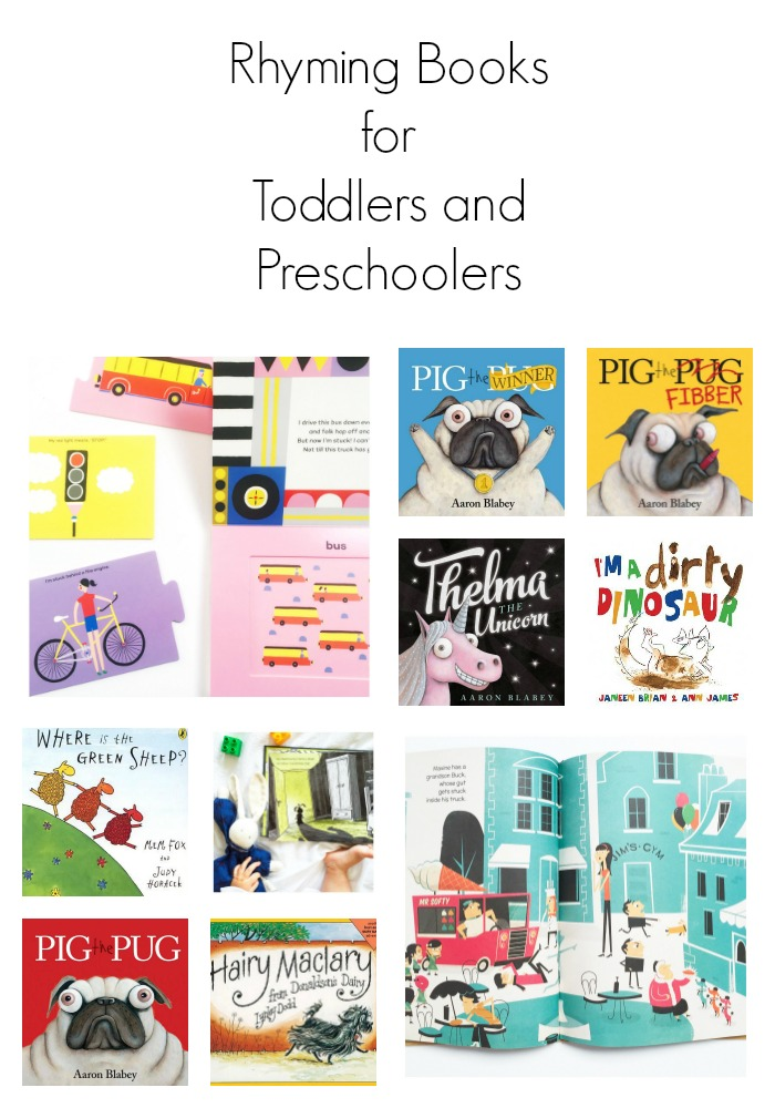 Rhyming Books for Toddlers and Preschoolers