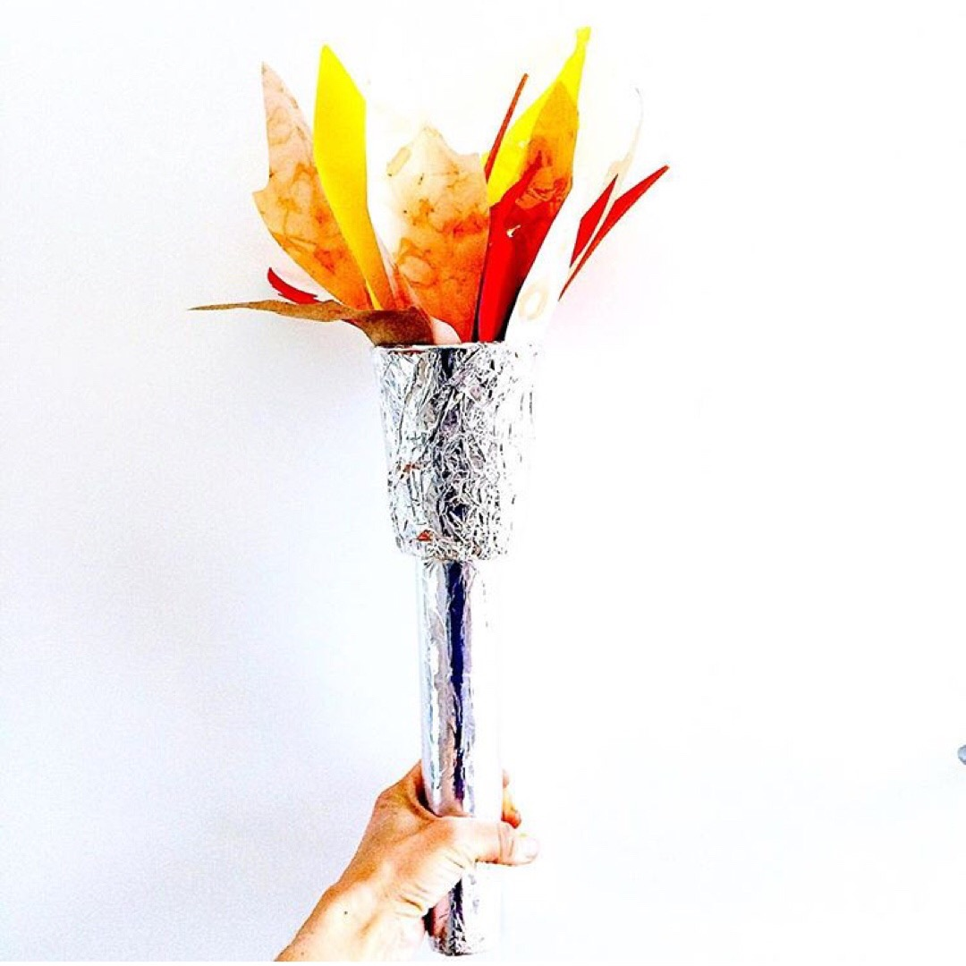 Olympic Torch Craft - Handy with Scissors