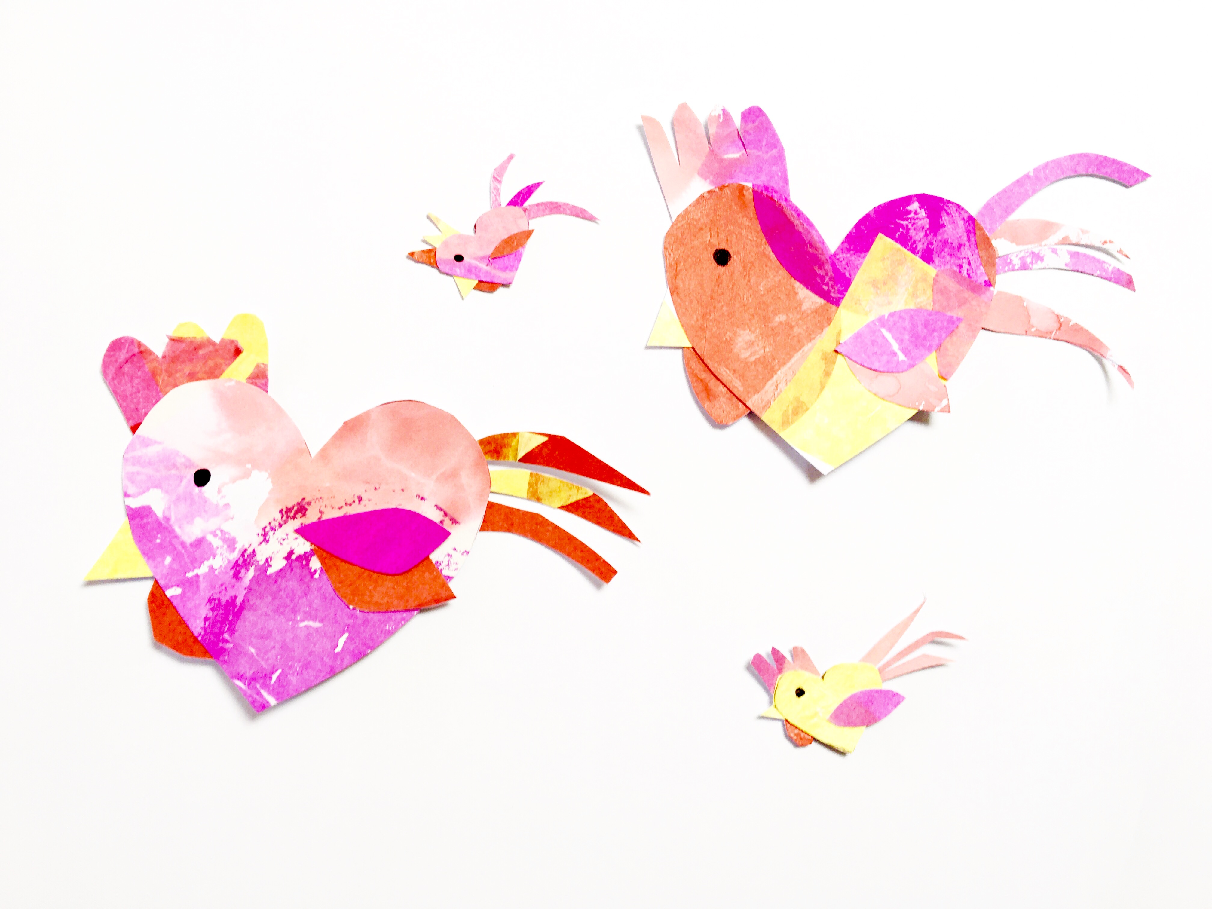 Create this rooster craft for Chinese New Year with a simple art process.