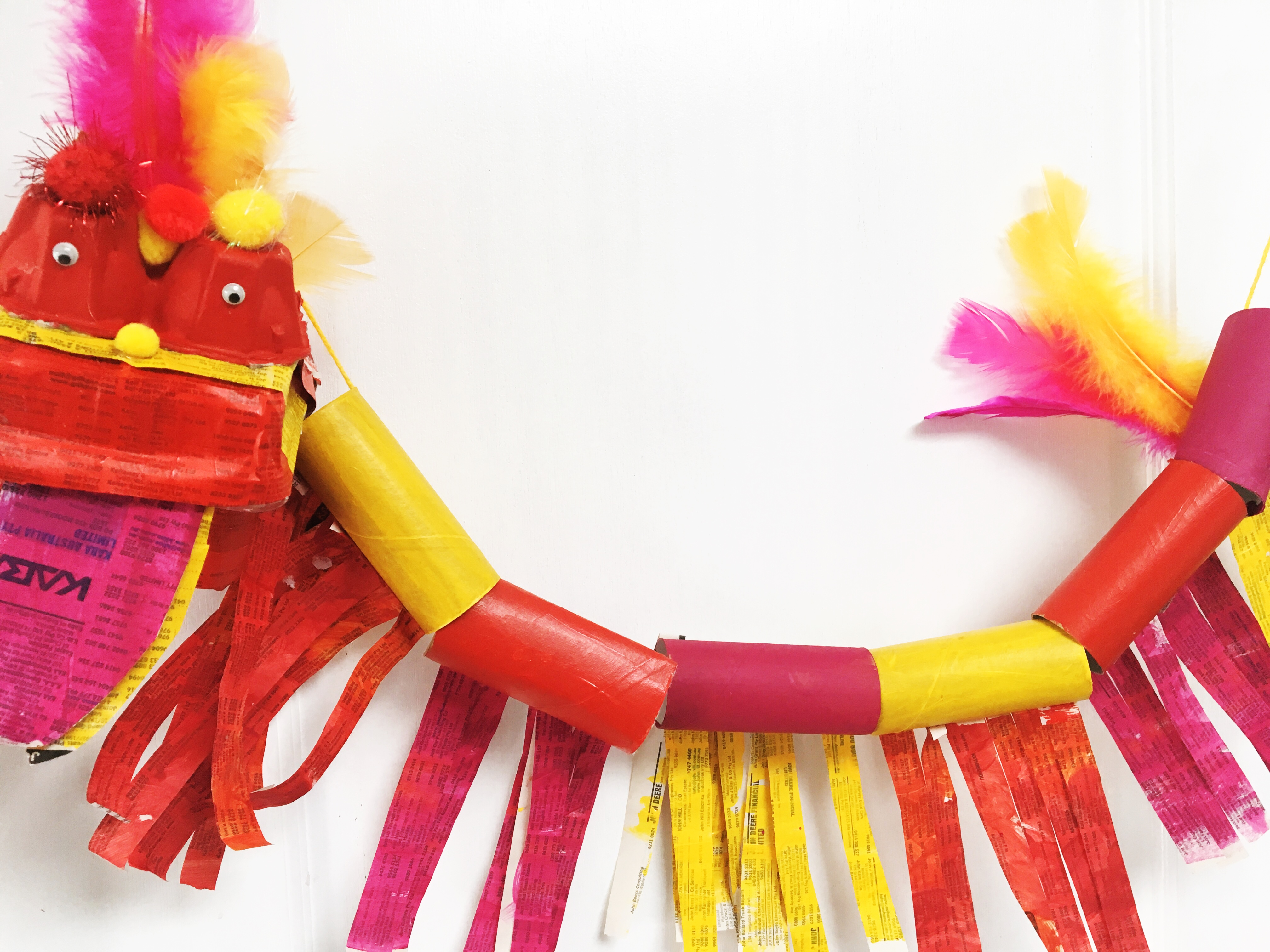 Chinese new year dragon craft oh creative day for Dragon crafts pinterest