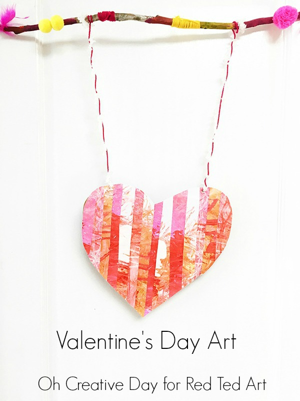 Use two different painting processes to create this Valentine's Day art.