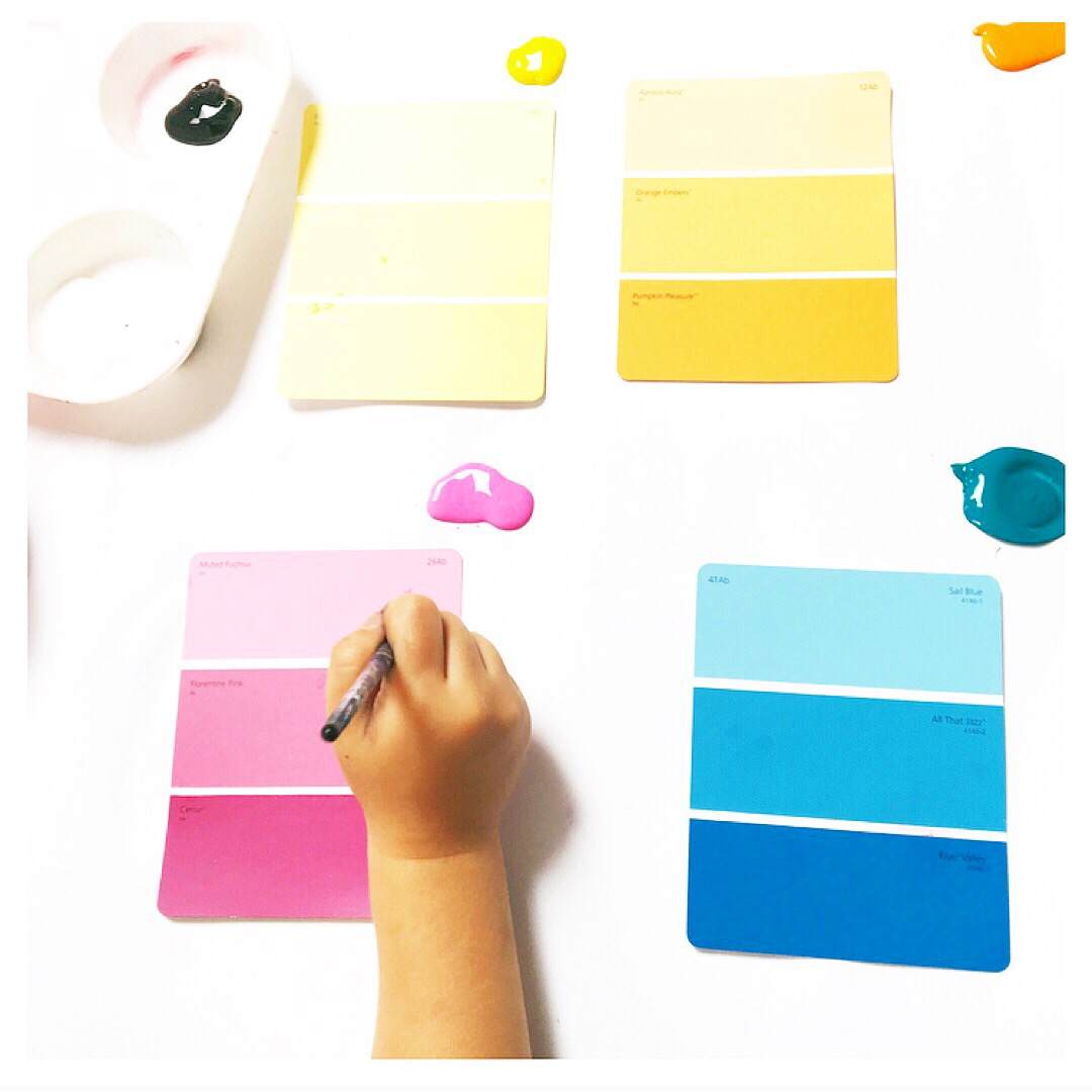 Get creative with paint chips