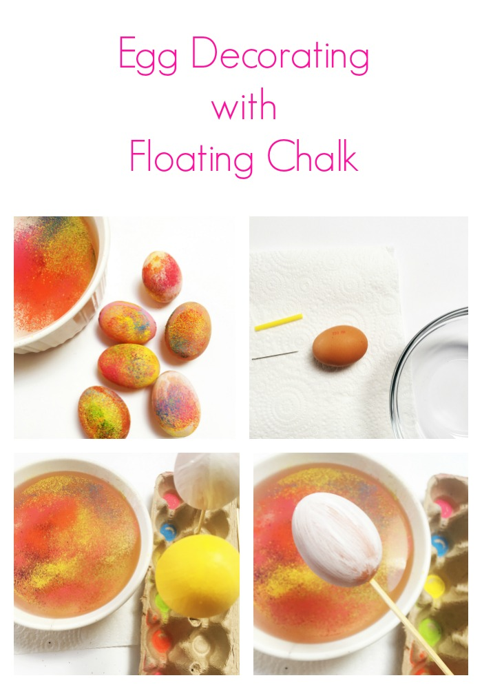 Decorate eggs this Easter with floating chalk for rad results.