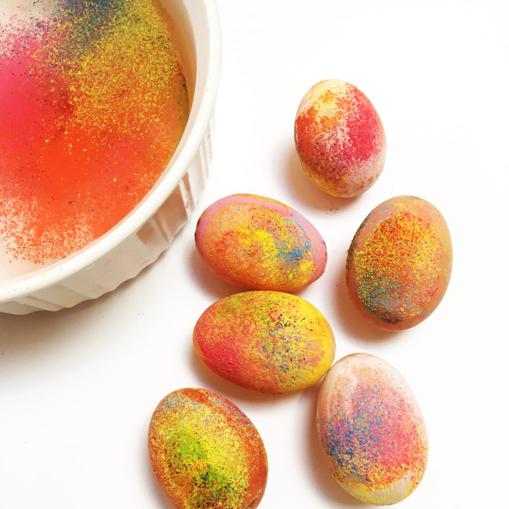 Egg Decorating with Floating Chalk