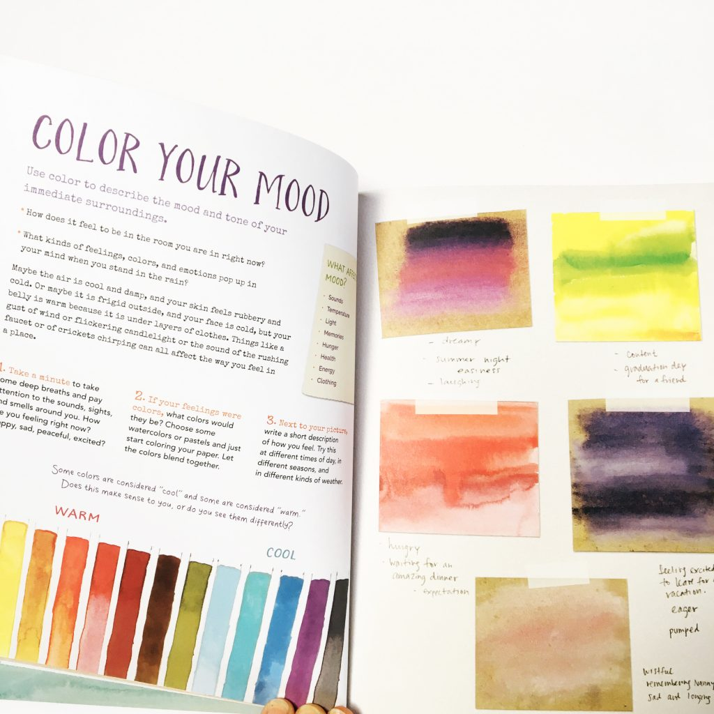 Journal Sparks by Emily Neuburger encourages you to draw, paint, doodle, scrawl and collage in your journal. We use it to guide our family creative journaling sessions. It's filled with oodles of gorgeous and inspiring prompts.