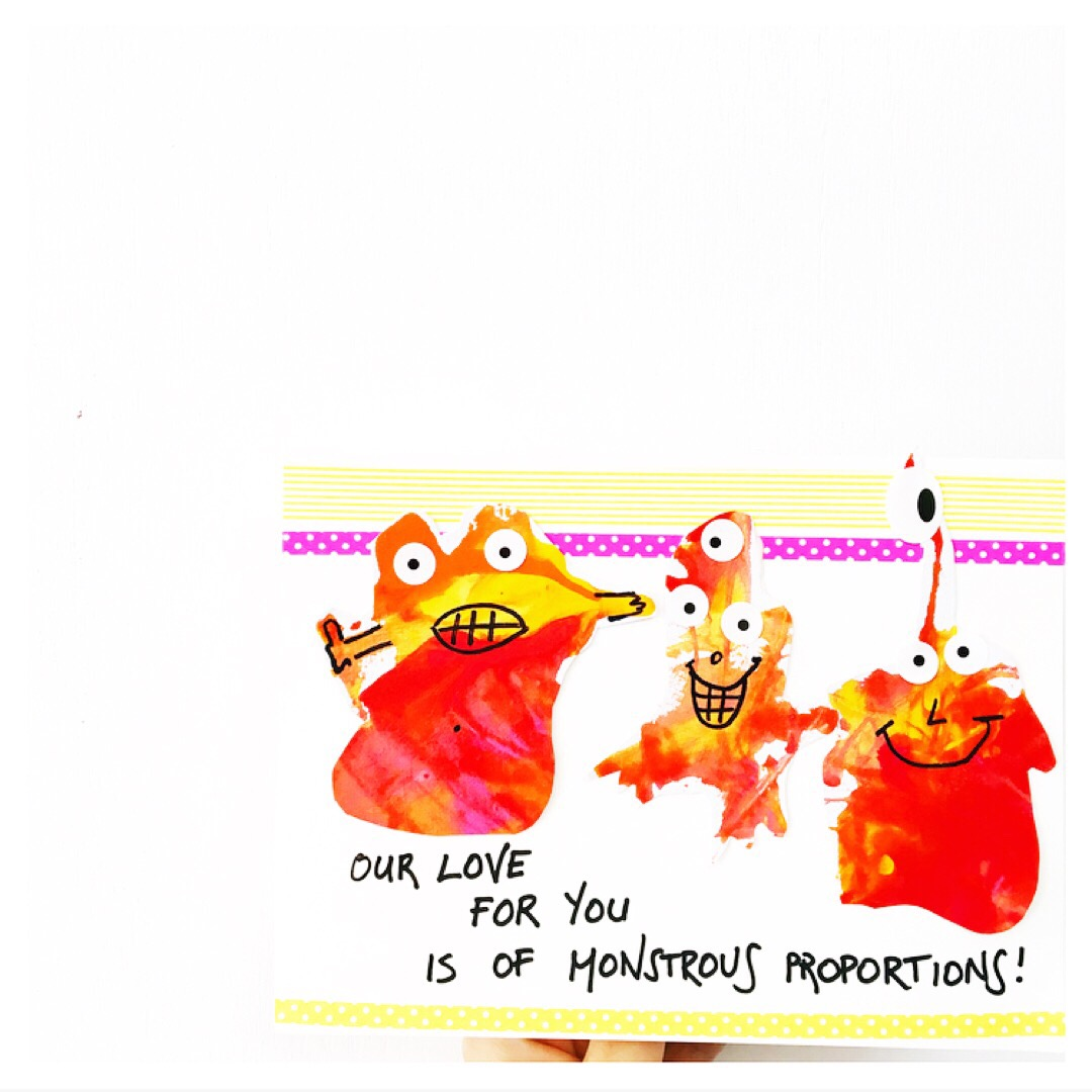 Make this monster Mother's Day card whilst exploring the concept of air pressure.