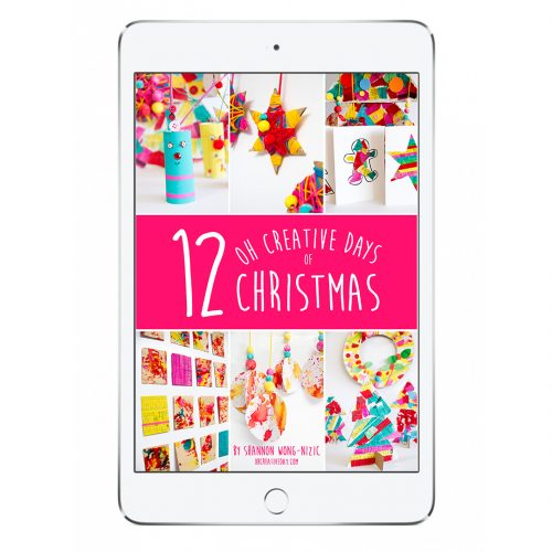"Grab a copy of my ""12 Oh Creative Days of Christmas"" eBook. Creatively connect with your children through art, craft and play this festive season. 70+ pages featuring… 12 projects with detailed tutorials 