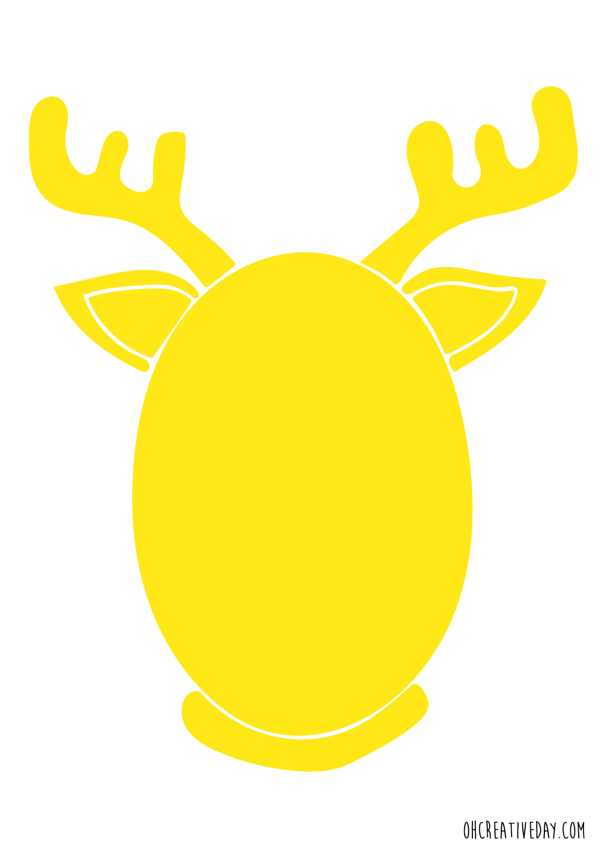 Free Printable Pin The Nose On Rudolph Oh Creative Day