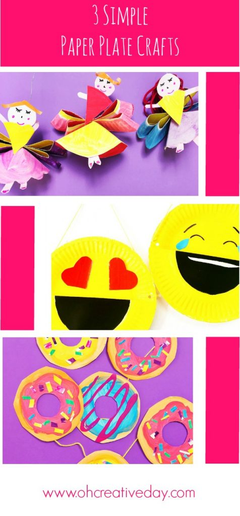 Here are three simple and fun paper plate craft ideas that will see you creating fairies, a doughnut garland and an emoji desk caddy.