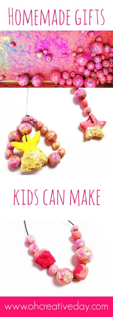 These simple and colourful beaded creations are sweet homemade gifts kids can make.