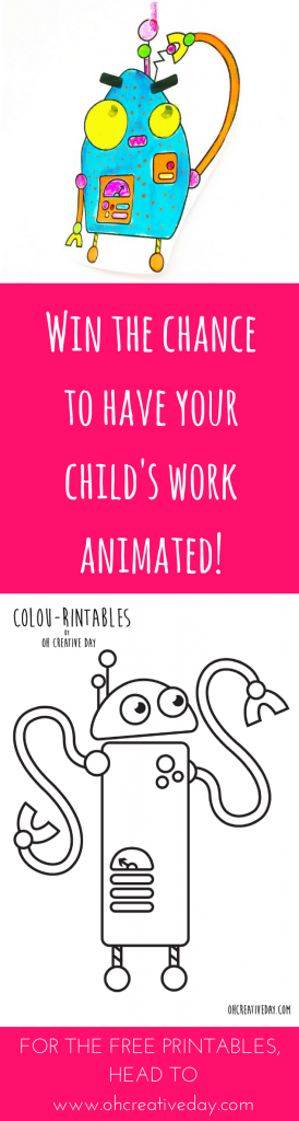 What if we turned your child's love for colouring and story-telling into an animation? Join the Robot Story Challenge and animate your child's imagination. #kidsactivities #animationforchildren #colouringin