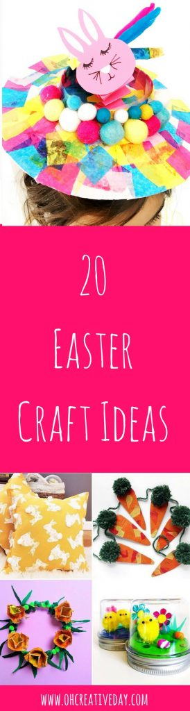 In need of some Easter craft ideas? Here are 20 Easter and Spring-inspired makes perfect for young and old. Brought to you by Hopfest. #eastercrafts #kidscrafts