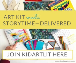 We adore KidArtLit boxes. KidArtLit is subscription box delivered to your doorstep each month, allowing you to easily integrate art & storytime into your family's routine. Each box contains a top-quality picture book and a guide to help scaffold your exploration of the book. The guide also contains a sequence of thoughtful art experiences that extend the book.