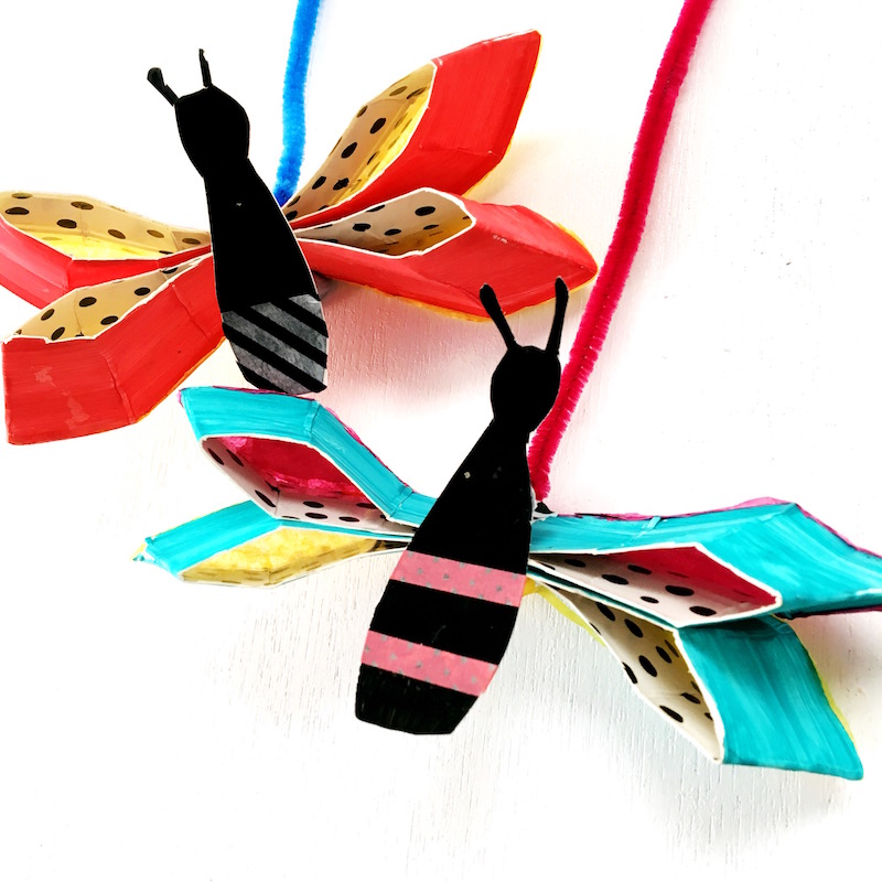 Welcome in Spring or encourage some imaginative play with this butterfly craft made from paper plates. This kids craft activity would be perfect to couple with a reading of The Very Hungry Caterpillar.