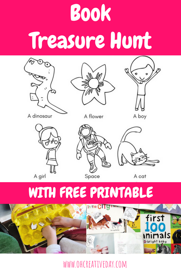 This is a fun activity to celebrate books with your children! Grab your free printable book treasure hunt. Make your own treasure chests and then go hunting through the bookshelves for all the gold that lies within the pages of your books.