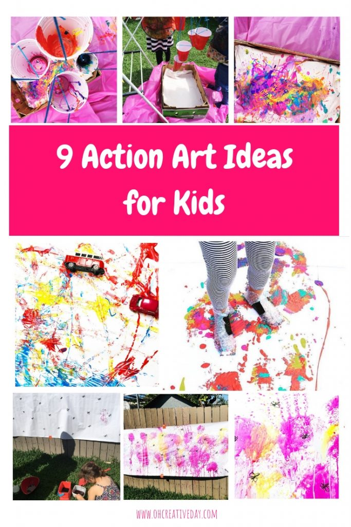 We love getting creative here as a chance to connect and calm the farm. But, sometimes, our making and creating is big. Loud. And action-packed. Here are 10 of our favourite action art ideas for kids.