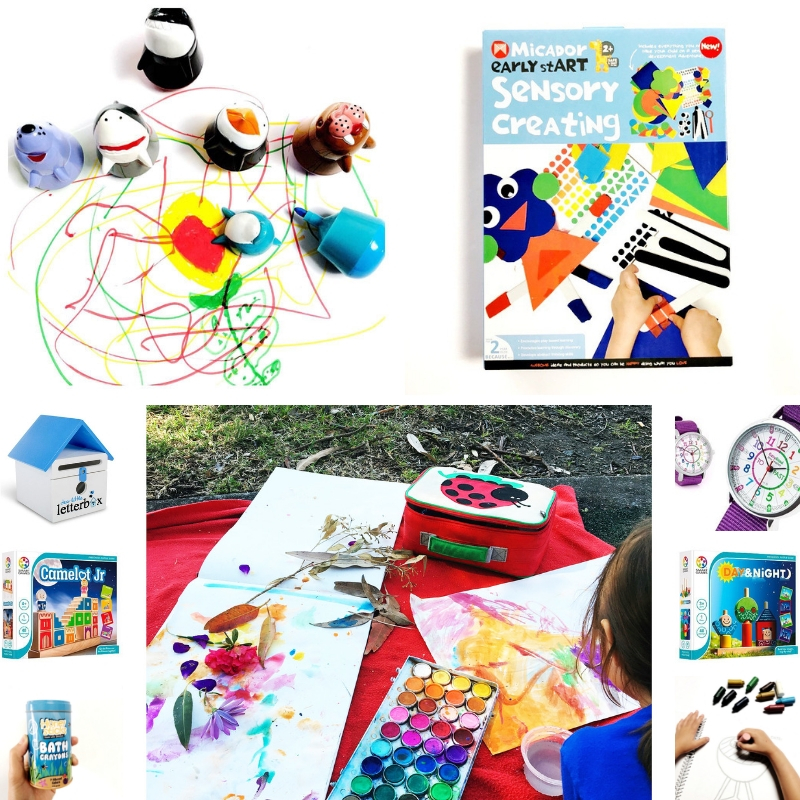 Looking for some gift ideas for creative kids? I've got you covered. When I'm on the hunt for good gift ideas for kids, I'm always looking for things that are open-ended, good quality for a good price and that nurture a mini-maker's creative abilities. Here are some of the products that we love using here. #giftideasforcreativekids #Christmasgiftsforkids #creativekids